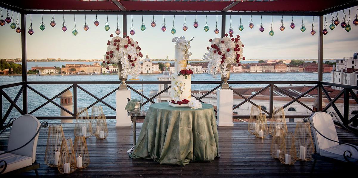 Эксклюзивный день рождения на панорамной террасе в Венеции, Италия